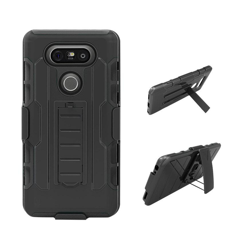 Shatter-resistant with Bracket Phone Case for LG V20 - BLACK