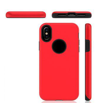 2 in 1 Non-slip Phone Case for iPhone X - RED