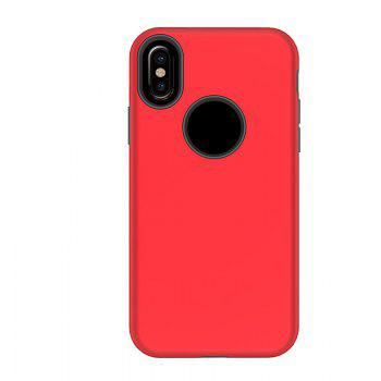 2 in 1 Non-slip Phone Case for iPhone X - RED RED