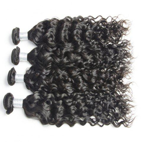 Malaysian Water Wave Virgin Human Hair Extension Natural Color 1 bundle 12inch - 26inch - BLACK 22INCH