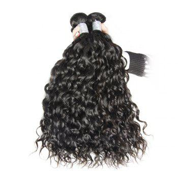 Malaysian Water Wave Virgin Human Hair Extension Natural Color 1 bundle 12inch - 26inch - BLACK 26INCH