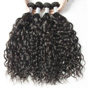 Malaysian Water Wave Virgin Human Hair Extension Natural Color 1 bundle 12inch - 26inch - BLACK 24INCH