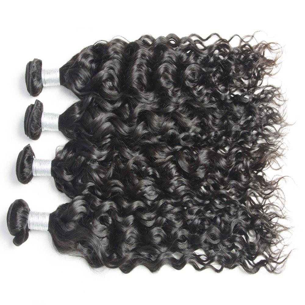 Malaysian Water Wave Virgin Human Hair Extension Natural Color 1 bundle 12inch - 26inch - BLACK 20INCH