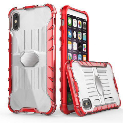Armored Mobile Phone Shell Case for iPhone X - RED
