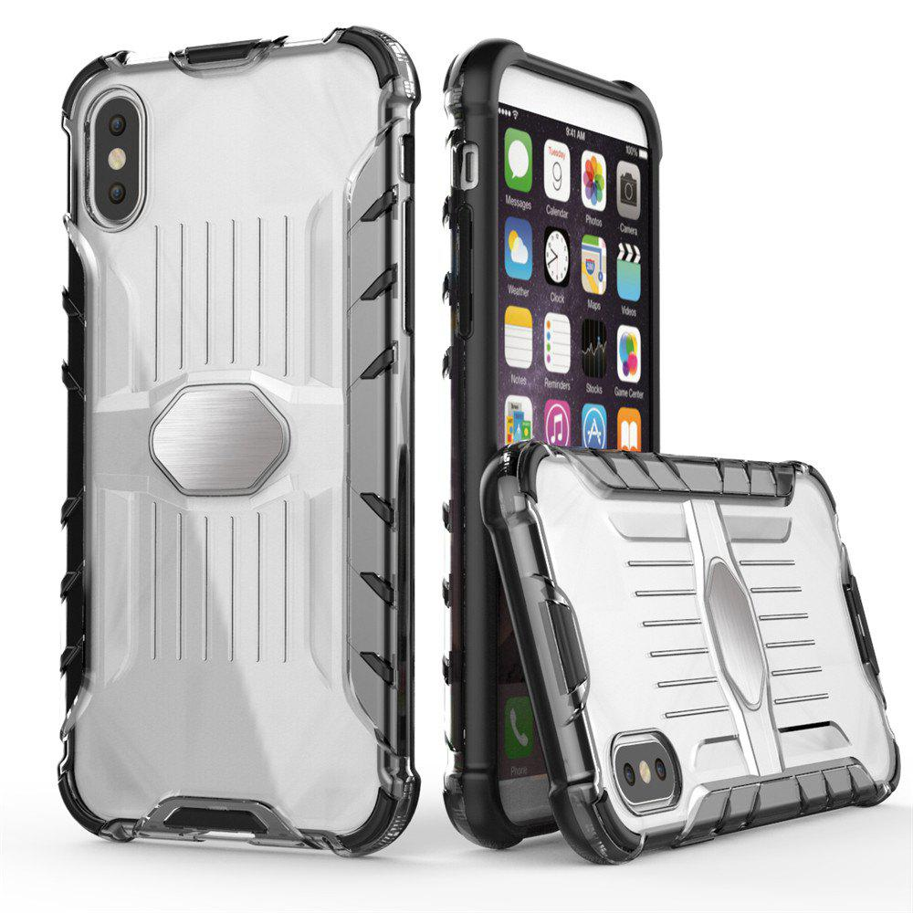 Armored Mobile Phone Shell Case for iPhone X - BLACK