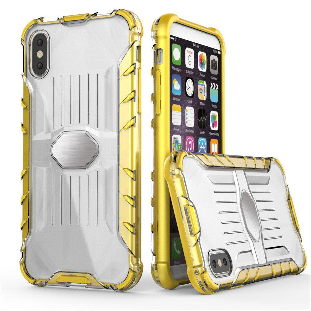 Armored Mobile Phone Shell Case for iPhone X - GOLDEN