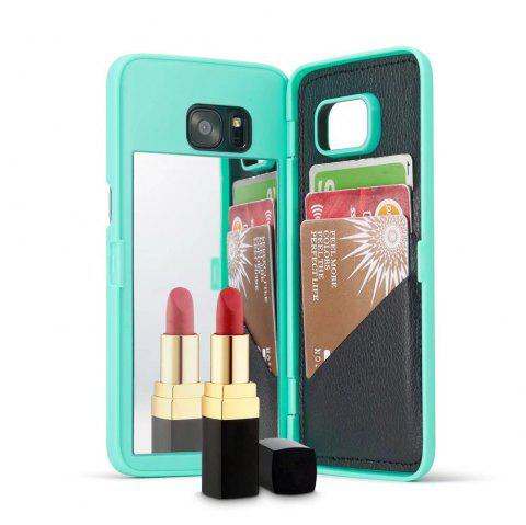Luxury Mirror Flip Phone Cover for Samsung Galaxy S7 Edge Case Girl - MINT