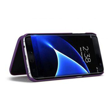 Luxury Mirror Flip Phone Cover for Samsung Galaxy S7 Edge Case Girl - PURPLE