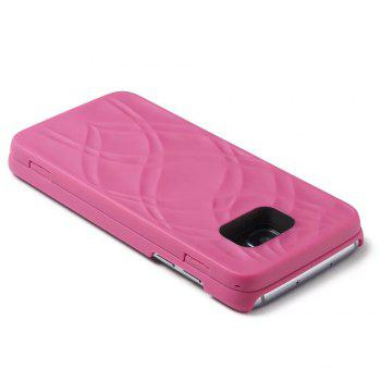 Luxury Mirror Flip Phone Cover for Samsung Galaxy S7 Case Girl - ROSE RED