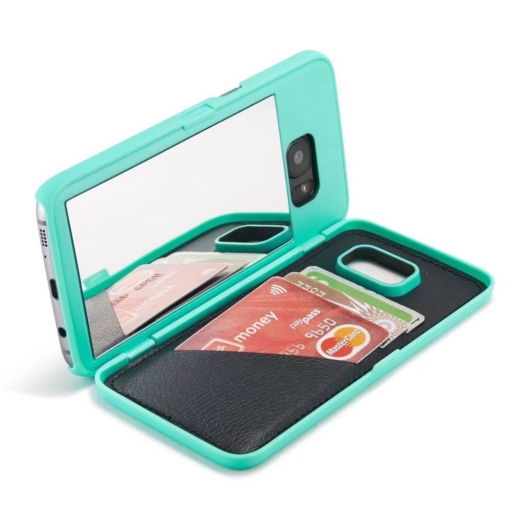Luxury Mirror Flip Phone Cover for Samsung Galaxy S7 Case Girl - MINT