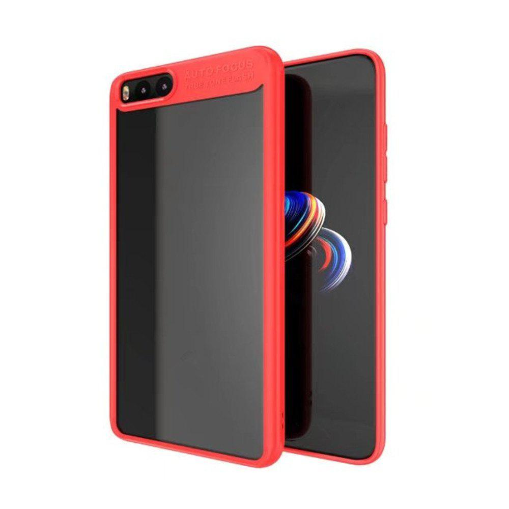 HD Clear Acrylic PC Back Soft Tpu Edge 2in1 Full Protective Shell Retail for Xiaomi Note 3 Case - RED