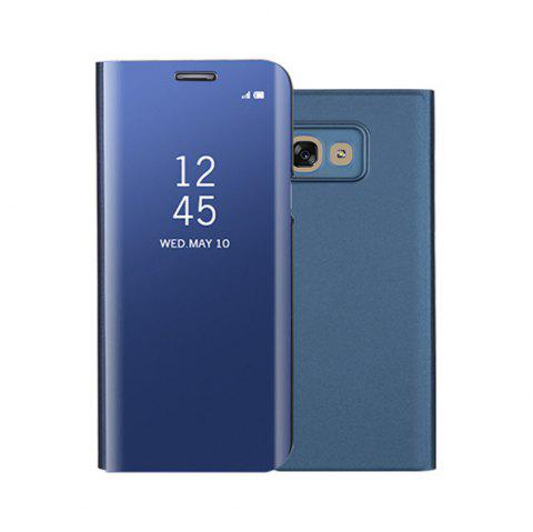 Mirror Flip Leather Clear View Window Smart Cover for Samsung Galaxy A320 Case - BLUE