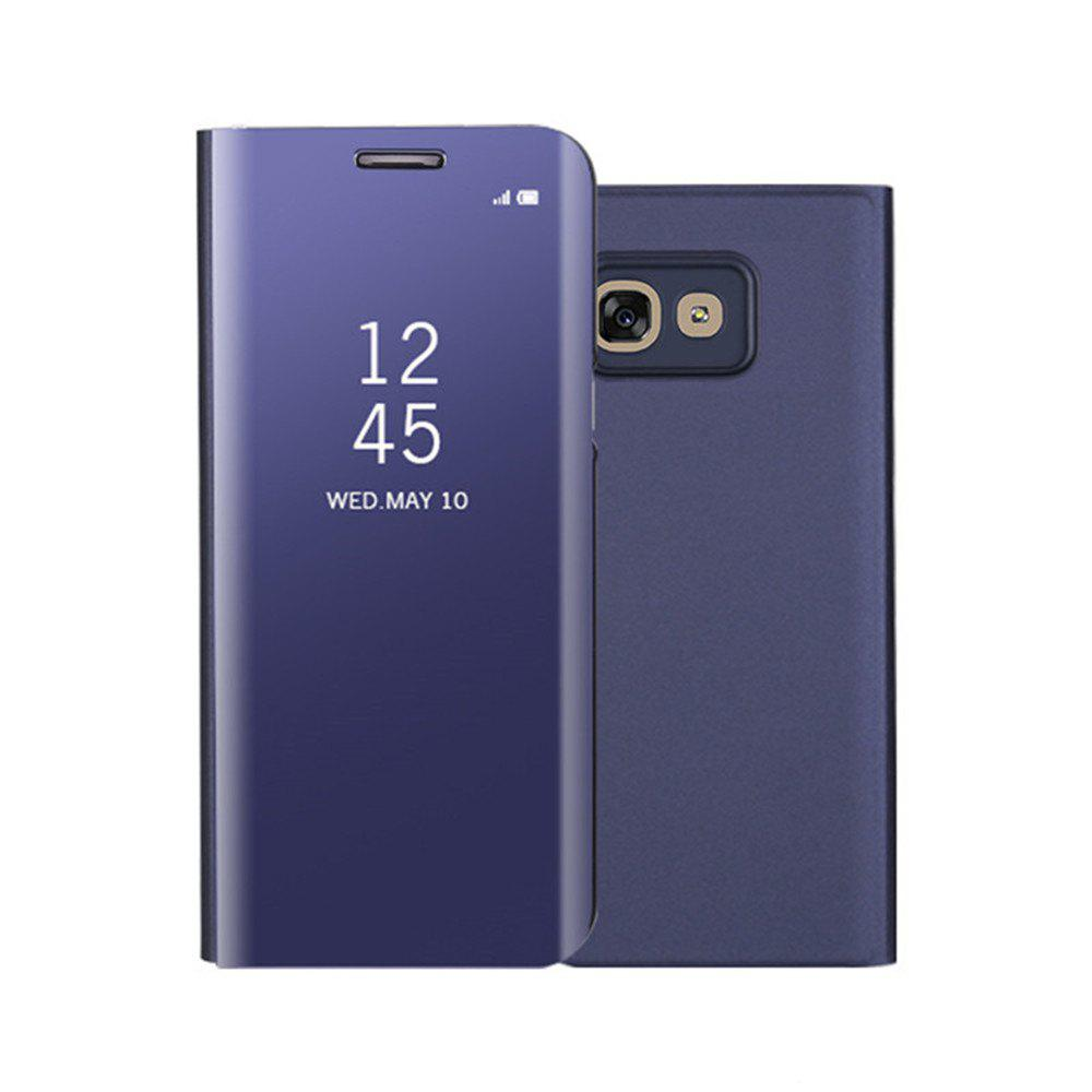 Mirror Flip Leather Clear View Window Smart Cover for Samsung Galaxy A320 Case - PURPLE