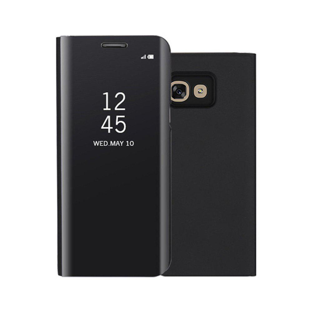 Mirror Flip Leather Clear View Window Smart Cover for Samsung Galaxy A320 Case - BLACK