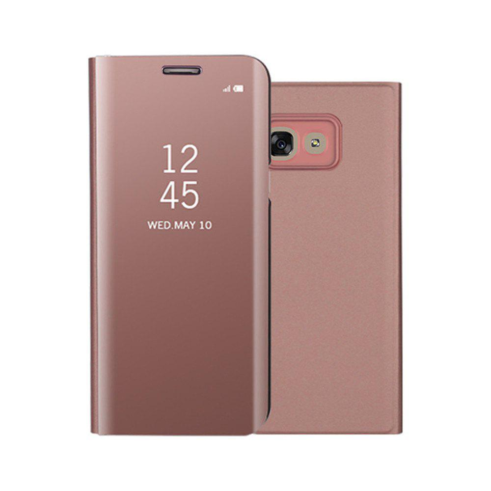 Mirror Flip Leather Clear View Window Smart Cover for Samsung Galaxy A320 Case - ROSE GOLD