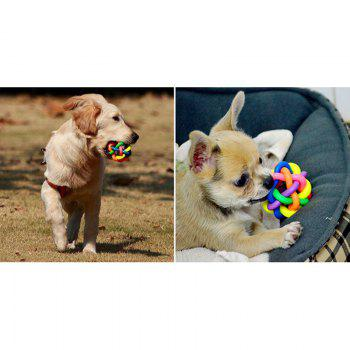 1PCS Puppy Dog Toy Colorful Bouncy Rubber Balls with Bell for Pet Training Playing Chewing -  COLORFUL