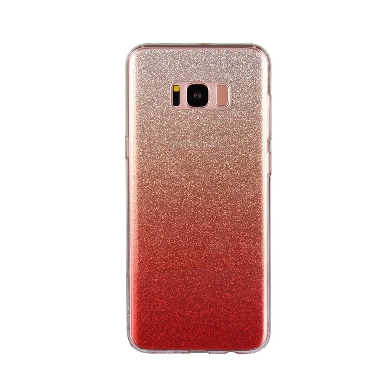 TPU Translucent Flash Shell for Samsung Galaxy S8 Plus - RED