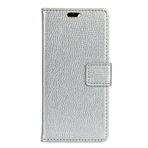 Litchi Pattern PU Leather Wallet Case for BQ U2  Life - SILVER