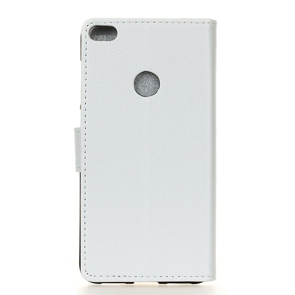 Litchi Pattern PU Leather Wallet Case for Huawei P8 Lite 2017 - WHITE
