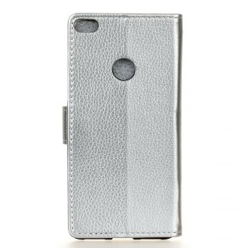 Litchi Pattern PU Leather Wallet Case for Huawei P10 Lite - SILVER