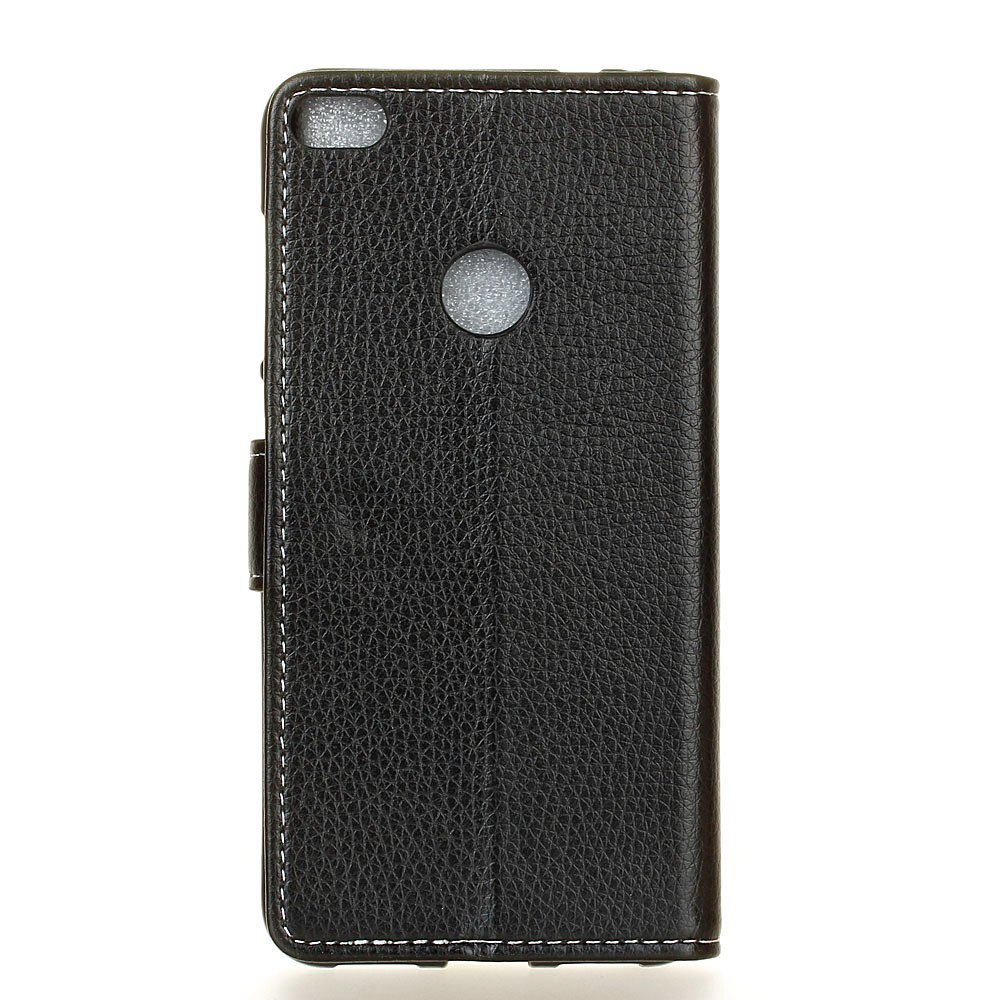 Litchi Pattern PU Leather Wallet Case for Huawei P10 Lite - BLACK