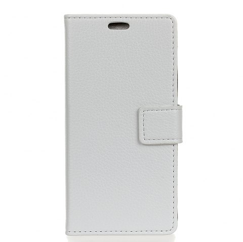 Litchi Pattern PU Leather Wallet Case for Huawei Honor 6 Plus - WHITE