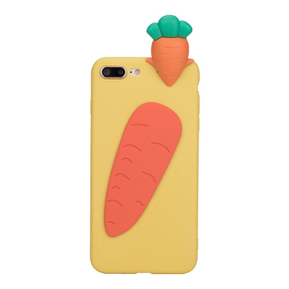3D Cute Cartoon Kawaii Ultra Thick Soft Silicone Rubber Bear Case Cover for iPhone 7 Plus - ORANGE