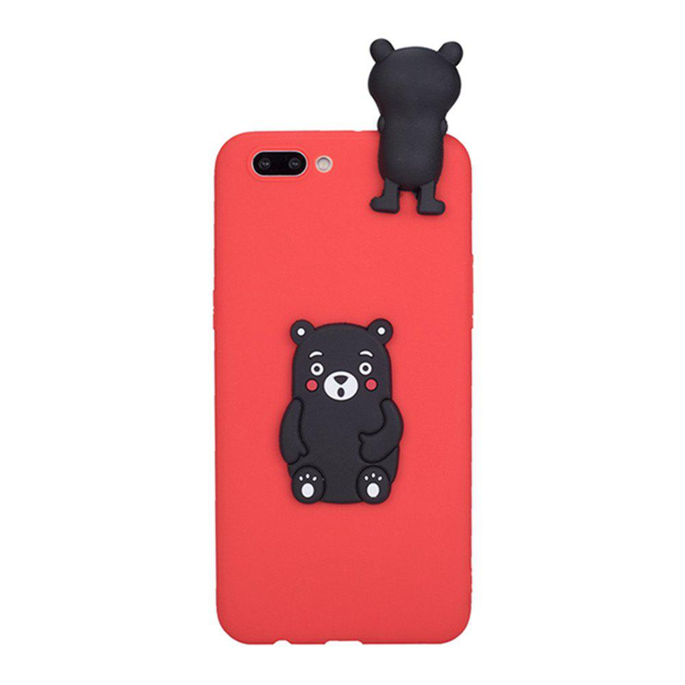 3D Cute Cartoon Kawaii Ultra Thick Soft Silicone Rubber Bear Case Cover for iPhone 7 Plus - RED