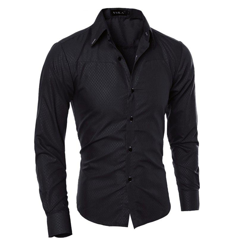 Brand New Autumn and Winter Men Shirt Social Masculina Casual Slim Fit  Shirts abercrombie