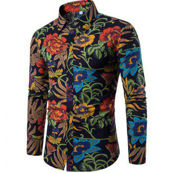 2017 The New Men'S Long Sleeves Printed Shirts Floral Shirts Beach Shirts  Night Clubs Shirts