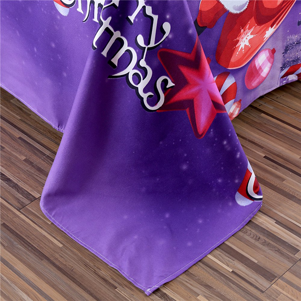 Merry Christmas Santa Claus Bedding Sets - PURPLE QUEEN