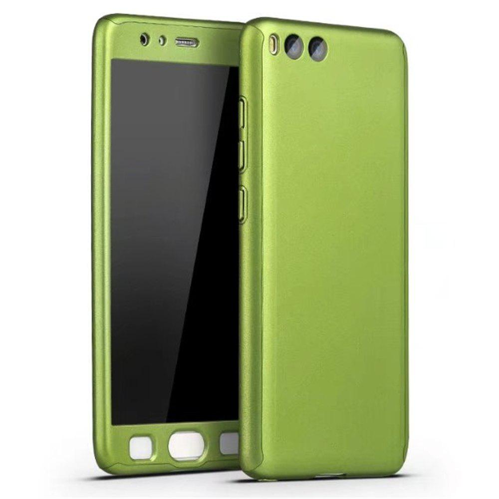 Full PC Back Cover Funda Complete All Around with Tempered Glass Case for Xiaomi 6 - GREEN