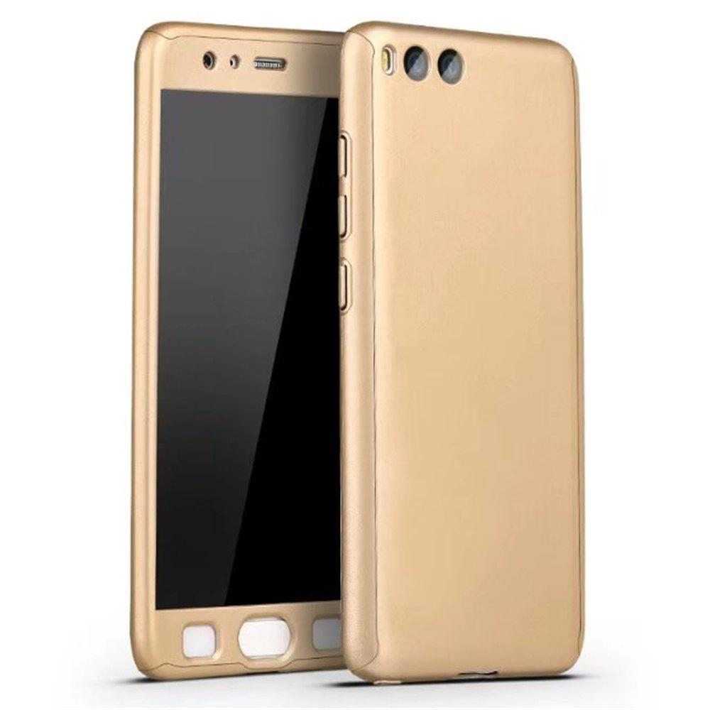 Full PC Back Cover Funda Complete All Around with Tempered Glass Case for Xiaomi 6 - GOLDEN
