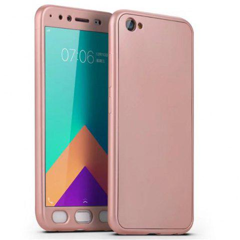 Full PC Back Cover Funda Complete All Around with Tempered Glass Case for Vivo X9 - ROSE GOLD