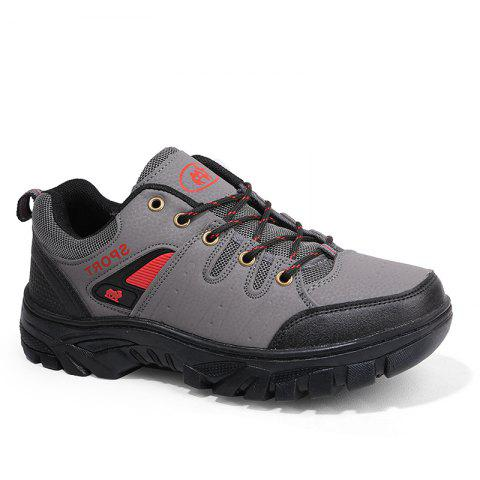 Autumn and Winter Non-Slip Warm Sports Men'S Hiking Shoes - GRAY 42