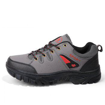 Autumn and Winter Non-Slip Warm Sports Men'S Hiking Shoes - GRAY GRAY