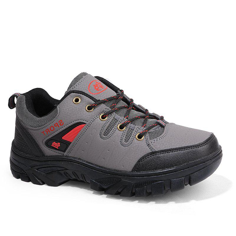 Autumn and Winter Non-Slip Warm Sports Men'S Hiking Shoes - GRAY 41