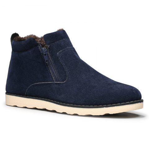 Winter Men Thicker High Plus Velvet Warm Snow Boots - BLUE 40