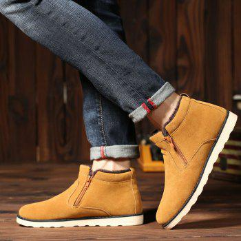 Winter Men Thicker High Plus Velvet Warm Snow Boots - YELLOW YELLOW