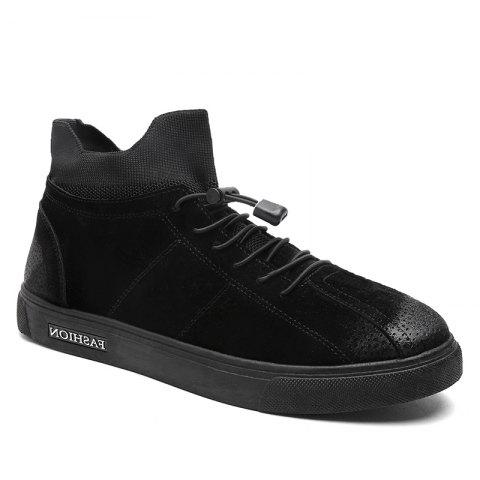 Autumn and Winter Pedal Breathable Sports Men's Shoes - BLACK 44