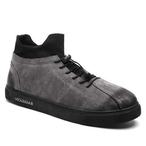 Autumn and Winter Pedal Breathable Sports Men's Shoes - GRAY 43