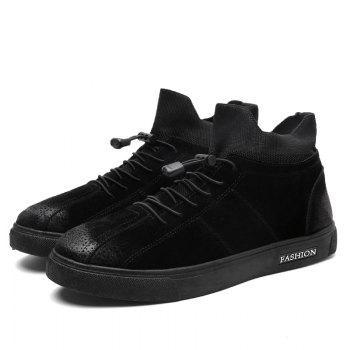 Autumn and Winter Pedal Breathable Sports Men's Shoes - BLACK 41