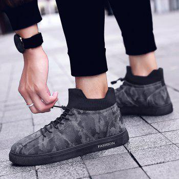 Autumn and Winter Pedal Breathable Sports Men's Shoes - CAMOUFLAGE GRAY 44