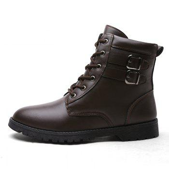 Autumn and Winter Breathable Casual Sports Men's Boots - BROWN BROWN