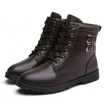 Autumn and Winter Breathable Casual Sports Men's Boots - BROWN 40