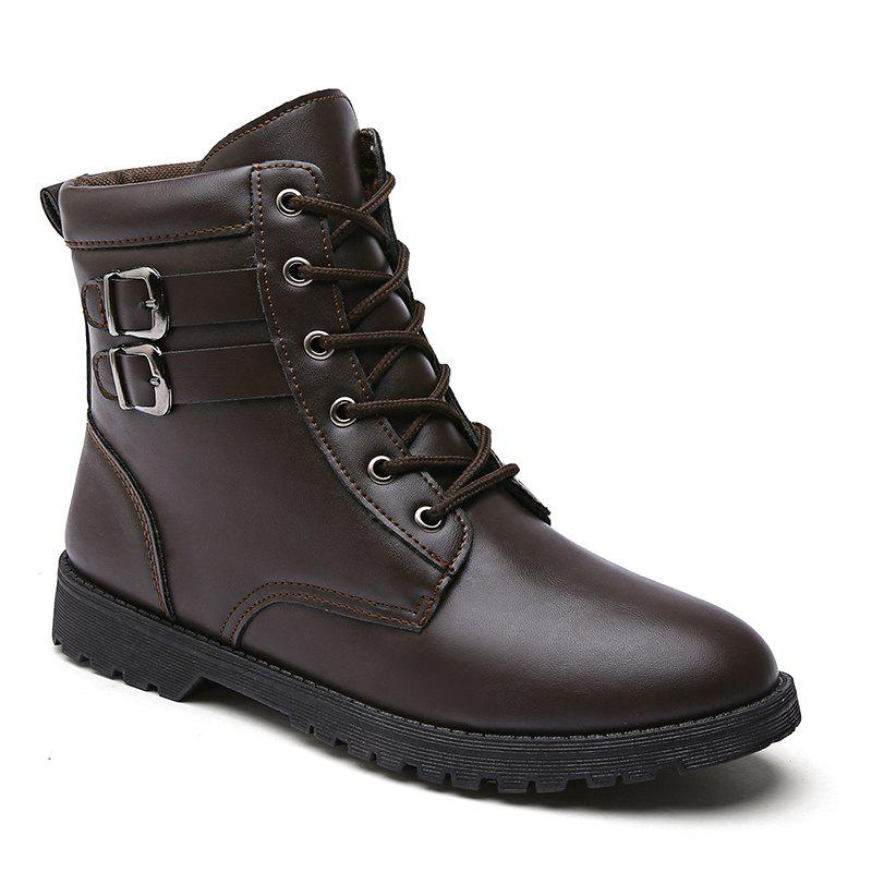 Autumn and Winter Breathable Casual Sports Men's Boots - BROWN 41