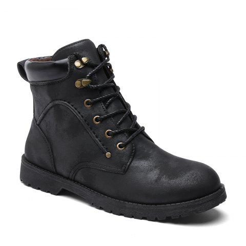 Autumn and Winter Fashion Breathable Casual Sports Men'S Boots - BLACK 43