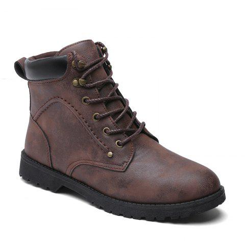 Autumn and Winter Fashion Breathable Casual Sports Men'S Boots - BROWN 42
