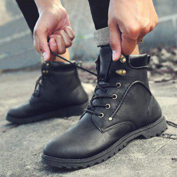 Autumn and Winter Fashion Breathable Casual Sports Men'S Boots - BLACK 42