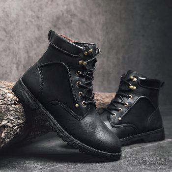 Autumn and Winter Fashion Breathable Casual Sports Men'S Boots - BLACK BLACK
